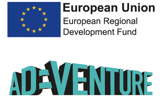 ERDF AD:Venture Programme Logos