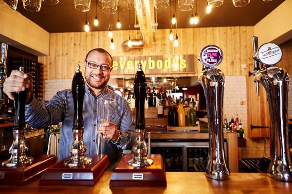 Business Enterprise Fund client Everybodys Social barman