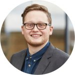 Portrait of Fergus Mckie, Marketing Co-ordinator at Business Enterprise Fund